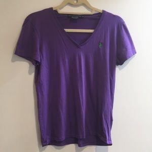 Ralph Lauren sport soft cotton purple t shirt